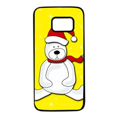 Polar Bear   Yellow Samsung Galaxy S7 Black Seamless Case