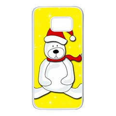 Polar bear - yellow Samsung Galaxy S7 White Seamless Case