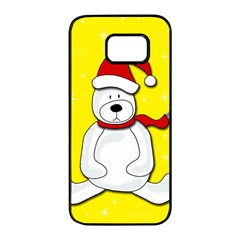 Polar bear - yellow Samsung Galaxy S7 edge Black Seamless Case