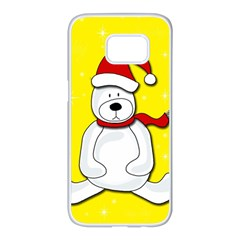 Polar bear - yellow Samsung Galaxy S7 edge White Seamless Case