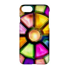 Glass Colorful Stained Glass Apple Iphone 7 Hardshell Case