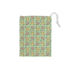 Hamster Pattern Drawstring Pouches (small)