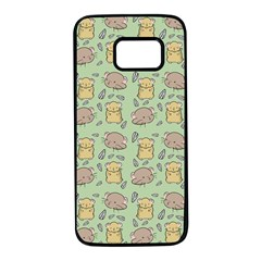 Hamster Pattern Samsung Galaxy S7 Black Seamless Case