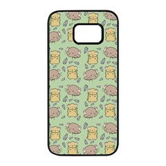 Hamster Pattern Samsung Galaxy S7 edge Black Seamless Case