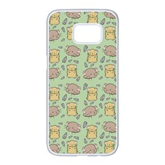 Hamster Pattern Samsung Galaxy S7 edge White Seamless Case