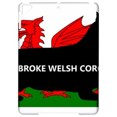 Pembroke Welsh Corgi Silhouette Wales Flag Name Apple iPad Pro 9.7   Hardshell Case