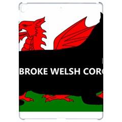 Pembroke Welsh Corgi Silhouette Wales Flag Name Apple iPad Pro 12.9   Hardshell Case