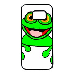 New Green Peeping Frog11 Samsung Galaxy S7 Black Seamless Case