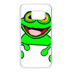 New Green Peeping Frog11 Samsung Galaxy S7 White Seamless Case