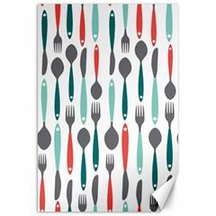 Spoon Fork Knife Pattern Canvas 20  X 30