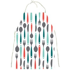 Spoon Fork Knife Pattern Full Print Aprons