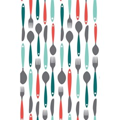 Spoon Fork Knife Pattern 5 5  X 8 5  Notebooks