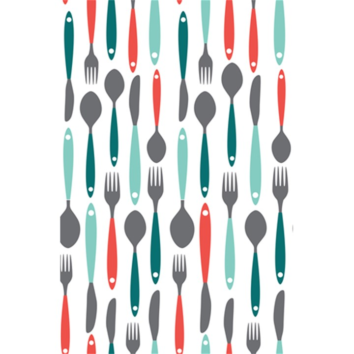 Spoon Fork Knife Pattern 5.5  x 8.5  Notebooks