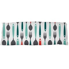 Spoon Fork Knife Pattern Body Pillow Case Dakimakura (two Sides)