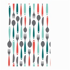 Spoon Fork Knife Pattern Small Garden Flag (two Sides)