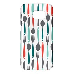 Spoon Fork Knife Pattern Samsung Galaxy S7 Edge Hardshell Case