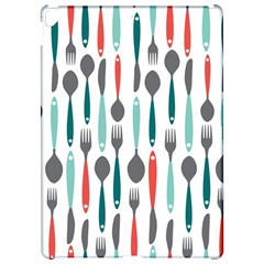 Spoon Fork Knife Pattern Apple iPad Pro 12.9   Hardshell Case