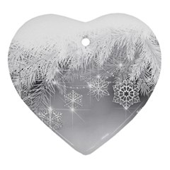 New Year Holiday Snowflakes Tree Branches Ornament (heart)