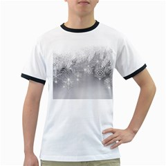 New Year Holiday Snowflakes Tree Branches Ringer T Shirts