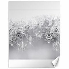 New Year Holiday Snowflakes Tree Branches Canvas 12  X 16