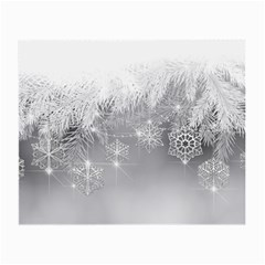 New Year Holiday Snowflakes Tree Branches Small Glasses Cloth (2 Side)