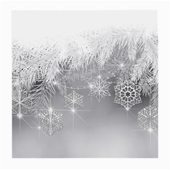 New Year Holiday Snowflakes Tree Branches Medium Glasses Cloth (2 Side)
