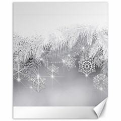 New Year Holiday Snowflakes Tree Branches Canvas 11  X 14