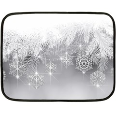 New Year Holiday Snowflakes Tree Branches Double Sided Fleece Blanket (mini)
