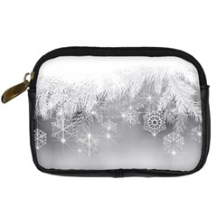 New Year Holiday Snowflakes Tree Branches Digital Camera Cases