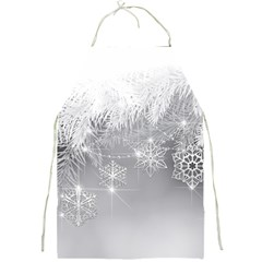 New Year Holiday Snowflakes Tree Branches Full Print Aprons