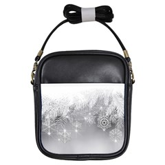 New Year Holiday Snowflakes Tree Branches Girls Sling Bags