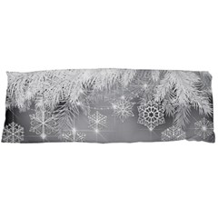 New Year Holiday Snowflakes Tree Branches Body Pillow Case Dakimakura (two Sides)