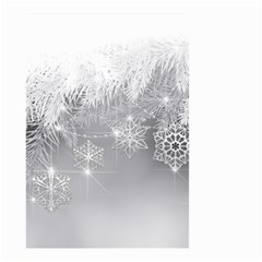 New Year Holiday Snowflakes Tree Branches Small Garden Flag (two Sides)