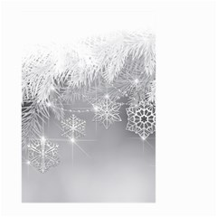 New Year Holiday Snowflakes Tree Branches Large Garden Flag (two Sides)