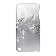 New Year Holiday Snowflakes Tree Branches Apple Ipod Touch 5 Hardshell Case