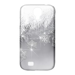 New Year Holiday Snowflakes Tree Branches Samsung Galaxy S4 Classic Hardshell Case (pc+silicone)