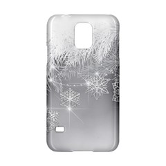 New Year Holiday Snowflakes Tree Branches Samsung Galaxy S5 Hardshell Case