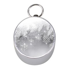 New Year Holiday Snowflakes Tree Branches Mini Silver Compasses