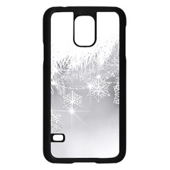 New Year Holiday Snowflakes Tree Branches Samsung Galaxy S5 Case (black)