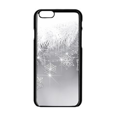 New Year Holiday Snowflakes Tree Branches Apple Iphone 6/6s Black Enamel Case