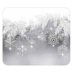 New Year Holiday Snowflakes Tree Branches Double Sided Flano Blanket (small)