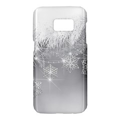 New Year Holiday Snowflakes Tree Branches Samsung Galaxy S7 Hardshell Case