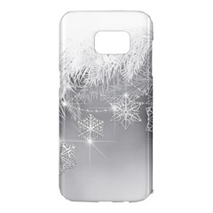 New Year Holiday Snowflakes Tree Branches Samsung Galaxy S7 Edge Hardshell Case