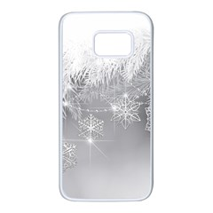 New Year Holiday Snowflakes Tree Branches Samsung Galaxy S7 White Seamless Case