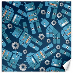 Seamless Pattern Robot Canvas 16  X 16