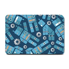 Seamless Pattern Robot Small Doormat