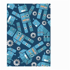 Seamless Pattern Robot Small Garden Flag (two Sides)
