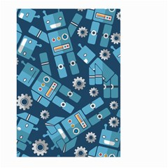 Seamless Pattern Robot Large Garden Flag (two Sides)