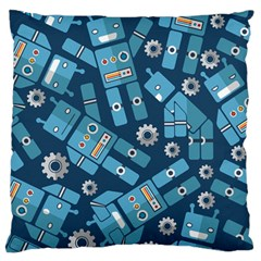 Seamless Pattern Robot Standard Flano Cushion Case (two Sides)