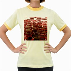 Red Lentils Women s Fitted Ringer T Shirts